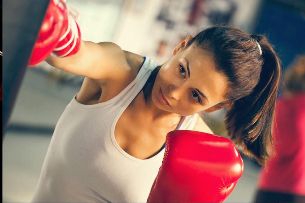 aula de boxe feminino