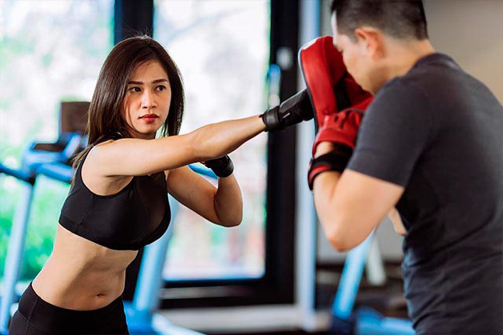 Aula de boxe para mulheres