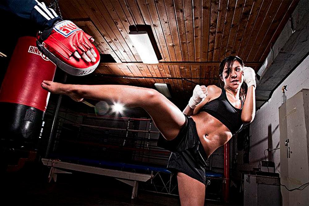 aula kickboxing feminino